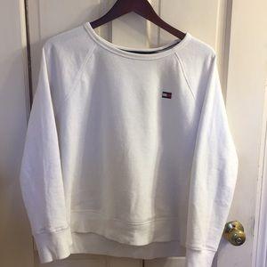 Sweaters - Woman's crew neck Tommy Hilfiger sweatshirt White